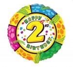 Balon foliowy 18 cali FX Happy Birthday - 2