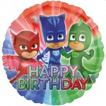 Balon foliowy 17 cali PJ Masks Pidżamersi Happy Birthday