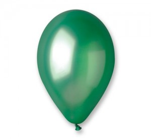 "Balon GM90 metal 10"" - ""zielony"" / 100 szt."
