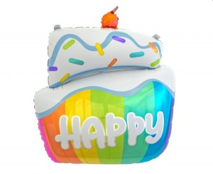 Balon foliowy Tort HAPPY 60 cm