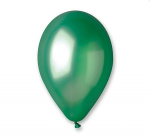 Balon GM110 metal 12 cali zielony 100 szt.