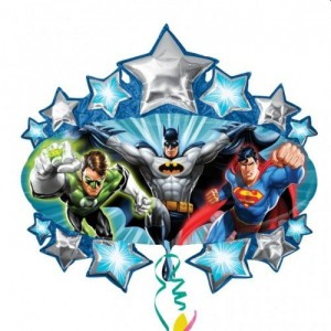 Balon foliowy Jumbo Gigant Batman Superman 90x80 cm