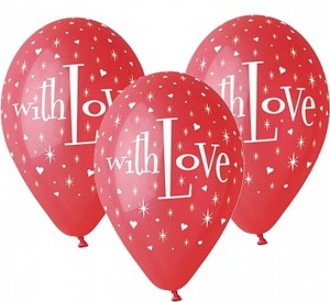 "Balony Premium With Love, 12""/ 5 szt."