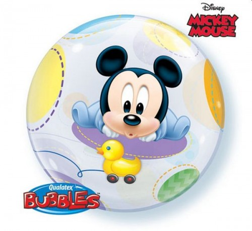 Balon foliowy 22 cali QL Bubble Baby Mickey.jpg