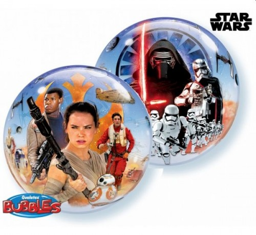 Balon foliowy 22 cali QL Bubble Star Wars The Force Awakens.jpg