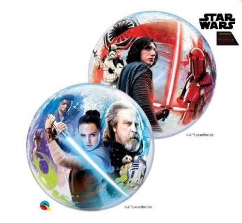 Balon foliowy 22 cali QL Bubble Star Wars the Last Jedi.jpg