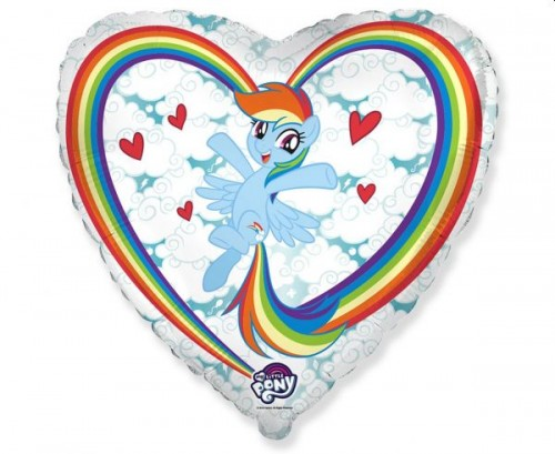 Balon foliowy 18 cali My little Pony Chmurki.jpg