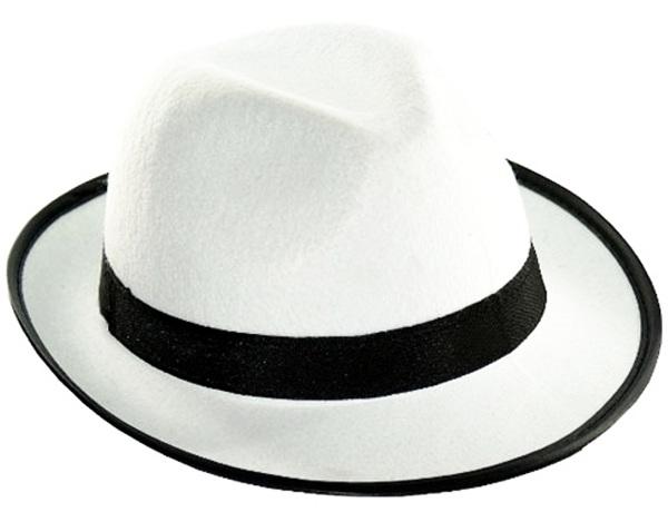 6150c2448 Kapelusz Gangster biały, Al Capone, mafioso elegant, prohibicja, zabawa,  impreza,